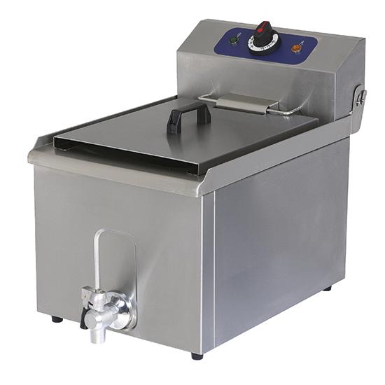 Elektro-Fritteuse mit Ablasshahn, Tischmodell, Ölfassungsvermögen 8 Liter