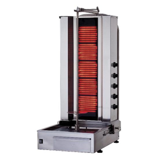 Elektro-Dönergrill mit 5 Heizelementen, 60-80 kg