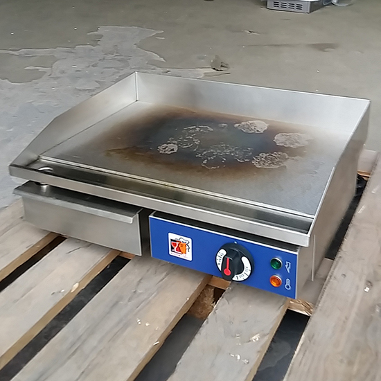 Elektro-Grillplatte, Tischmodell, 1 Zone, glatt - GEBRAUCHT
