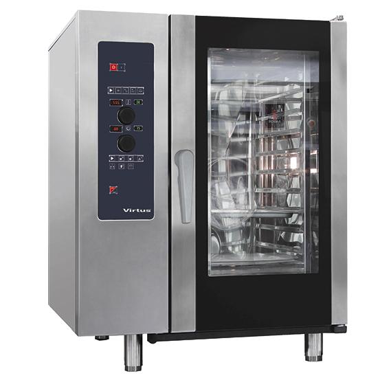 Elektro-Konvektionsofen mit Direkteinspritzung und automatischem Reinigungssystem, 10x GN 1/1