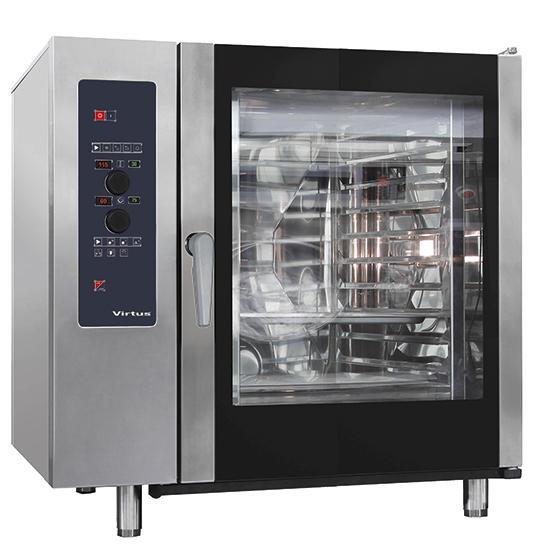 Elektro-Konvektionsofen mit Direkteinspritzung und automatischem Reinigungssystem, 10x GN 2/1