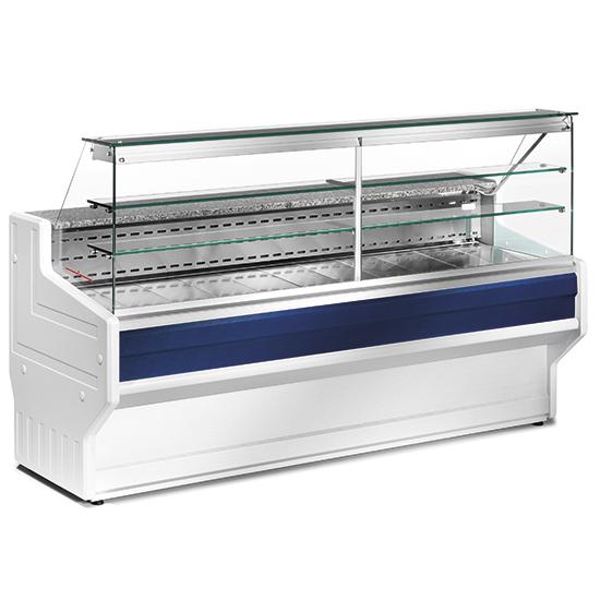 Kühltheke 1500 mm mit gerader Frontverglasung, statische Kühlung, +4°/+6°C