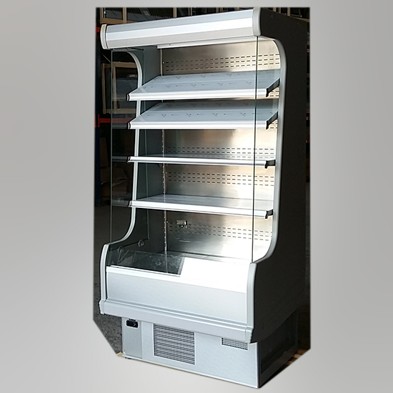Wandkühlregal für Milchprodukte mit 4 Regalböden, +3°/+7°C, B=1000 mm - GEBRAUCHT