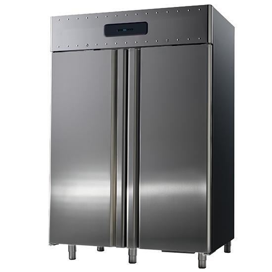 Bäckereitiefkühlschrank 1400 Liter aus Edelstahl, 60x40 cm, -10°/-22°C