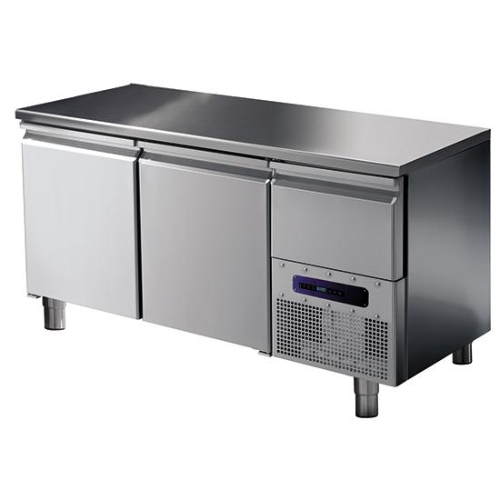 Kühltisch mit 2 Türen GN 1/1, -2°/+8°C