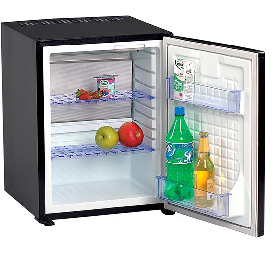 Minibar mit 2 Regalböden, schwarz, 38 Liter