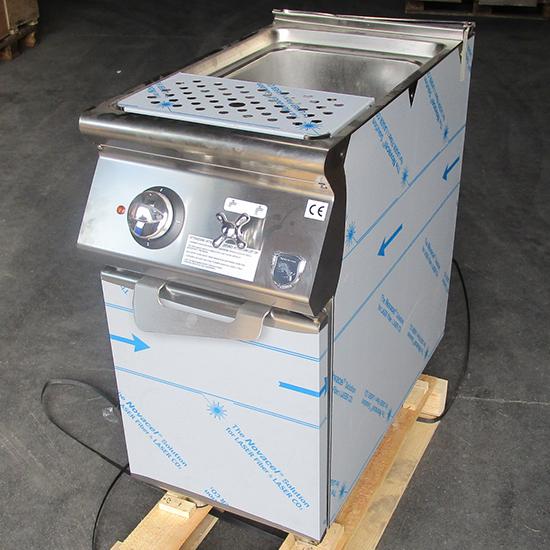 Elektro-Nudelkocher, 1 Becken GN 2/3, Kapazität 1x 26 Liter, feststehende Heizungen - BESCHÄDIGT
