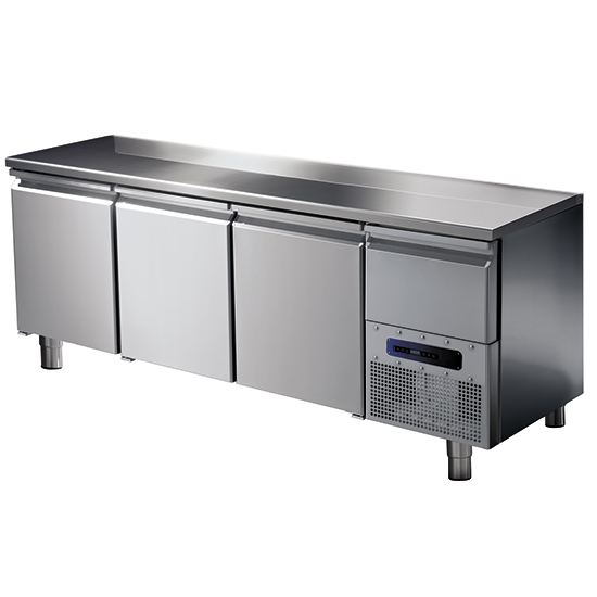 Tiefkühltisch mit 3 Türen GN 1/1, -10°/-20°C