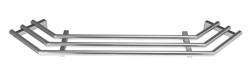 Tablettrutsche für Außeneck, 90°, rohrförmig