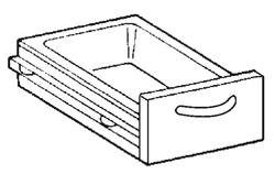 Schublade GN1/1, mit Schienen