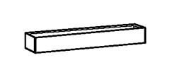 hoher Kamin für Kochgeräte, Breite 600 mm