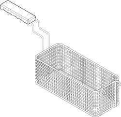 Korb für Gasnudelkocher, 135x295x200 mm