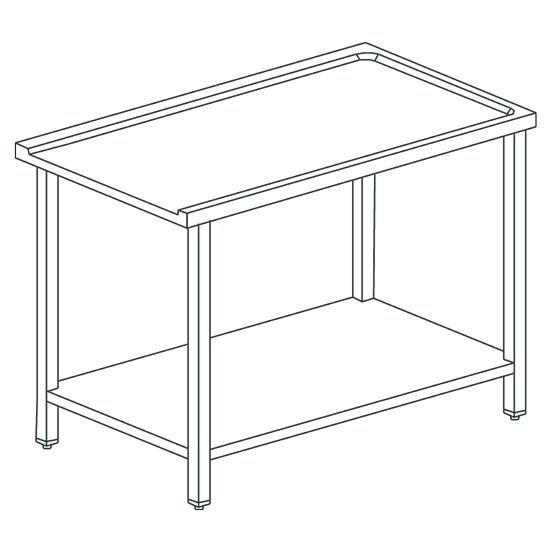 Zulauftisch oder Auslauftisch für Korbdurchschubspüler OPT1012/CFN, B=700 mm